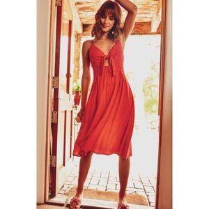>>LAST<< Liza Midi Sweetheart Dress - Red